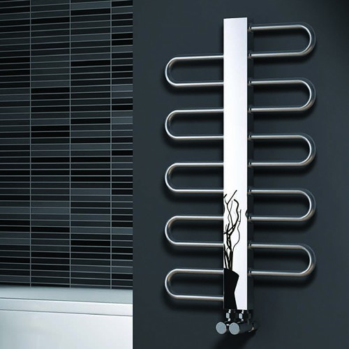 Additional image for Dynamic Towel Radiator (Stainless Steel). 475x500mm.