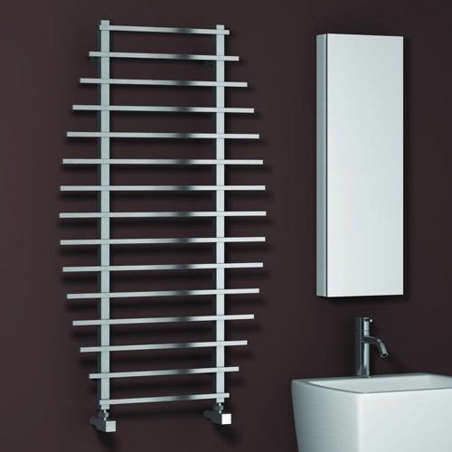 Additional image for Enna Towel Radiator (Satin Stainless Steel). 1200x700.