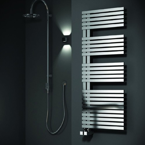 Additional image for Entice Towel Radiator (Stainless Steel). 1200x500mm.