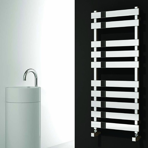 Additional image for Kreon Towel Radiator (Stainless Steel). 780x500mm.