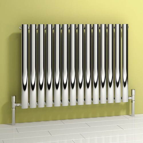 Additional image for Nerox Single Radiator (Polished Stainless Steel). 590x600.