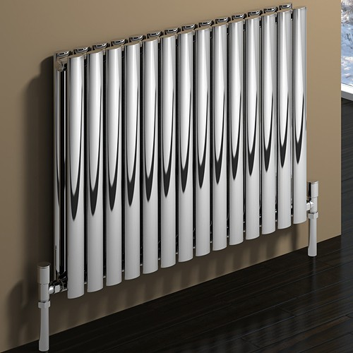 Additional image for Nerox Double Radiator (Polished Stainless Steel). 590x600.