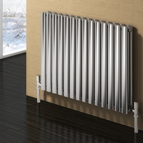 Additional image for Nerox Double Radiator (Brushed Stainless Steel). 590x600.