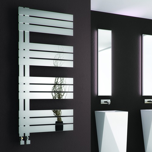 Additional image for Ricadi Towel Radiator (Stainless Steel). 840x500mm.