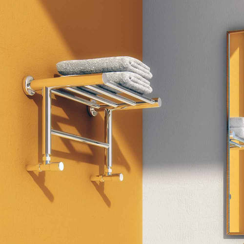 Additional image for Troisi Towel Radiator Shelf (Stainless Steel). 294x532.