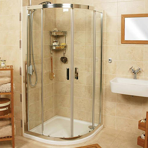Additional image for Quadrant Shower Enclosure (900x900mm, Silver).