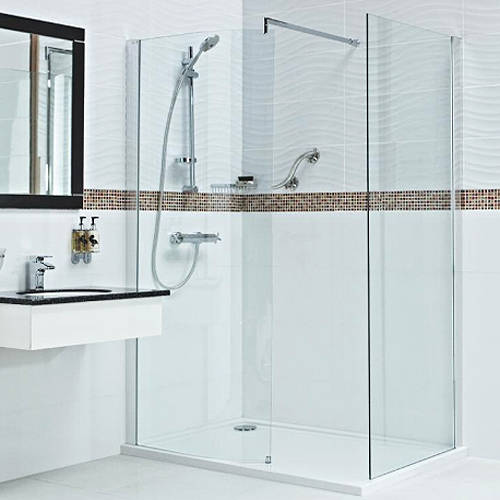 Additional image for Walk In Shower Enclosure With 8mm Glass (1100x800mm).