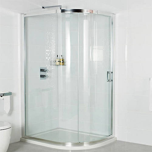 Additional image for Offset Quad Shower Enclosure & Sliding Door (900x1200mm).