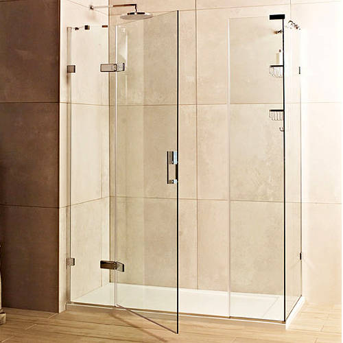 Additional image for Shower Enclosure With Hinged Door (1200x800, Chrome).