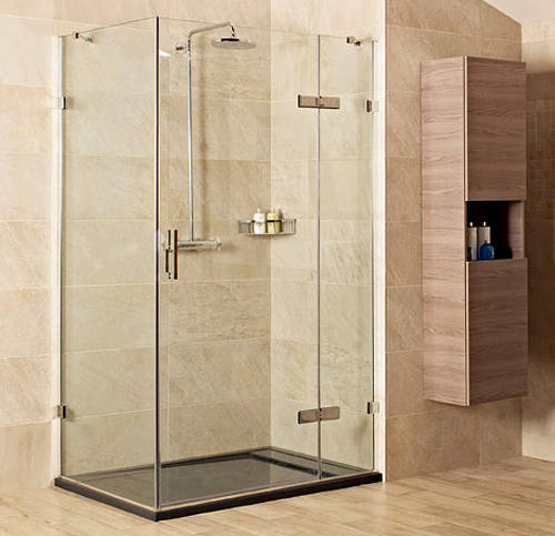 Additional image for Shower Enclosure With Hinged Door (1000x1000mm, Nickel).