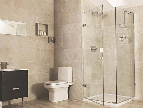 Additional image for Square Shower Enclosure With Hinged Door (760x760mm).