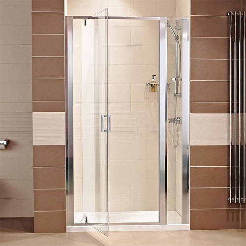 1000 Pivot Shower Door With 200 In Line Panel 1200mm