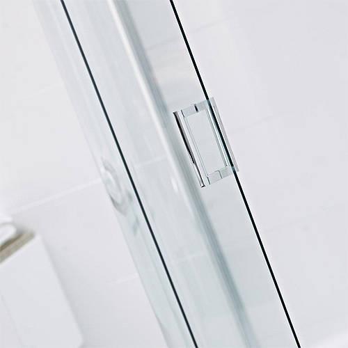 760 Pivot Shower Door With 200 In Line Panel 960mm