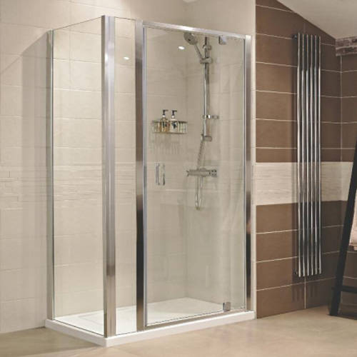 Additional image for Shower Enclosure With Pivot Door & 300 Panel (1060x760mm).