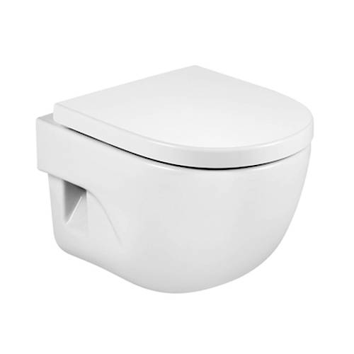 Additional image for Meridian-N Compact Wall Hung Toilet Pan & Seat.