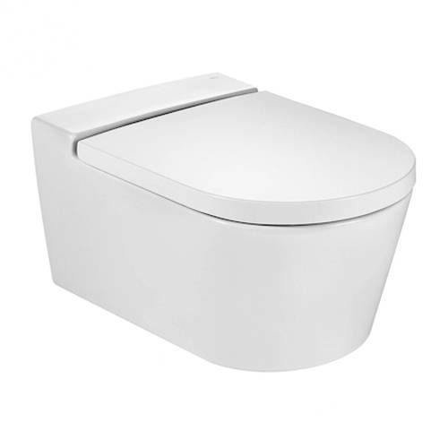 Additional image for Inspira Round Rimless Wall Hung Toilet Pan & Seat.