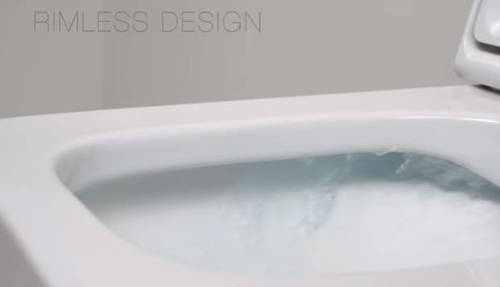 Additional image for Inspira Square Rimless Wall Hung Toilet Pan & Seat.