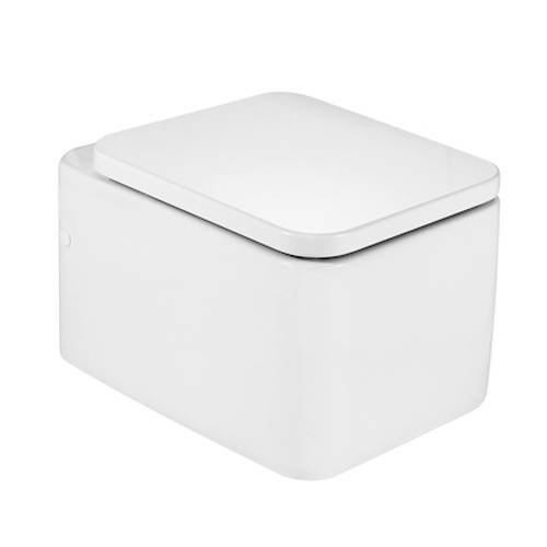 Additional image for Element Wall Hung Toilet Pan & White Seat.