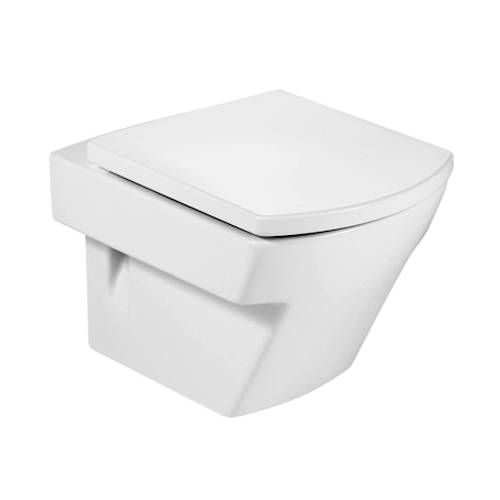 Additional image for Hall Compact Wall Hung Toilet Pan & White Seat.