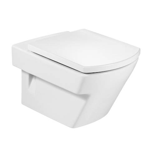 Additional image for Hall Wall Hung Toilet Pan & White Seat.