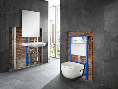 Additional image for In-Wall DUPLO Basin Frame For Wall Hung Basins.