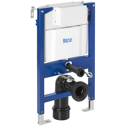 Additional image for DUPLO LH Wall Hung Frame & PL4 Dual Flush Panel (Chrome).