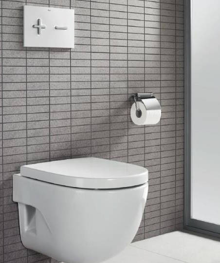 Additional image for DUPLO LH Wall Hung Frame & PL6 Dual Flush Panel (White).
