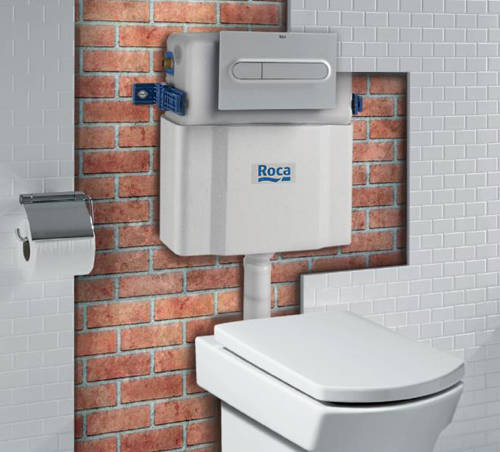 Additional image for Low Height Concealed Cistern & PL1 Dual Flush Panel (Grey).