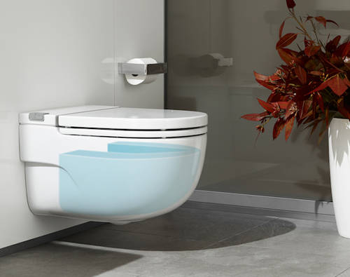 """Additional image for Wall Hung Pan With Integrated Cistern & Seat (Solid Wall """"I"""" Type)."""