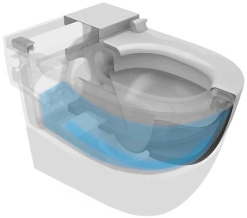 Additional image for Back To Wall Pan With Integrated Cistern (BTW).
