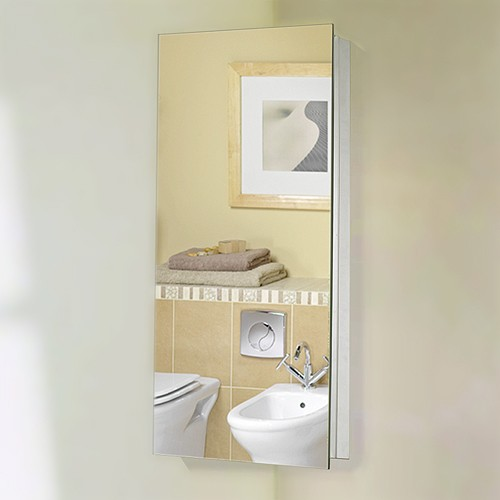 corner mirror bathroom cabinet 300x600x190mm roma