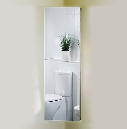 Corner mirror bathroom cabinet 380x1200x200mm roma cabinets roma cab5 Bathroom corner cabinet storage