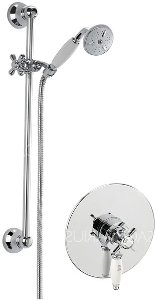 Additional image for Churchmans Concealed Shower Valve With Slide Rail Kit (Chrome).