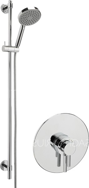 Additional image for Ergo Concealed Shower Valve With Slide Rail Kit (Chrome).