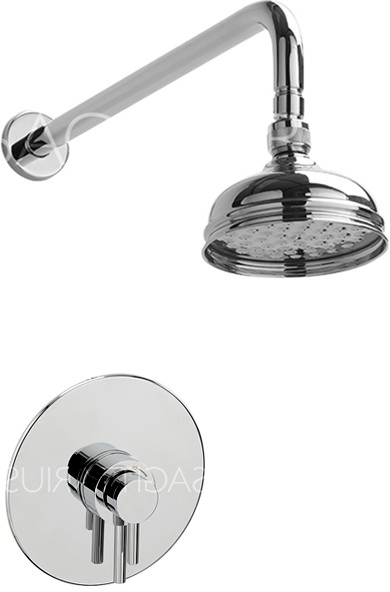 Additional image for Ergo Shower Valve With Arm & 130mm Head (Chrome).