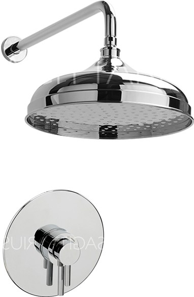 Additional image for Ergo Shower Valve With Arm & 300mm Head (Chrome).