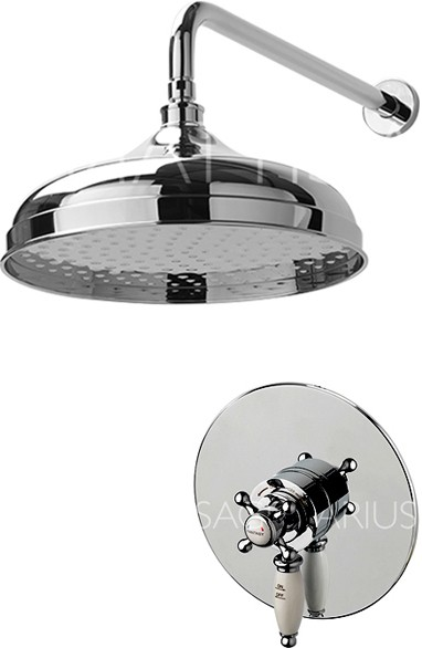 Additional image for Fantasy Shower Valve With Arm & 300mm Head (Chrome).