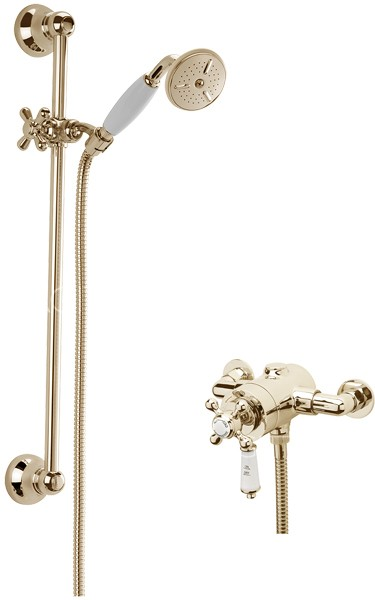 Additional image for Kensington Exposed Shower Valve With Slide Rail Kit (Gold).