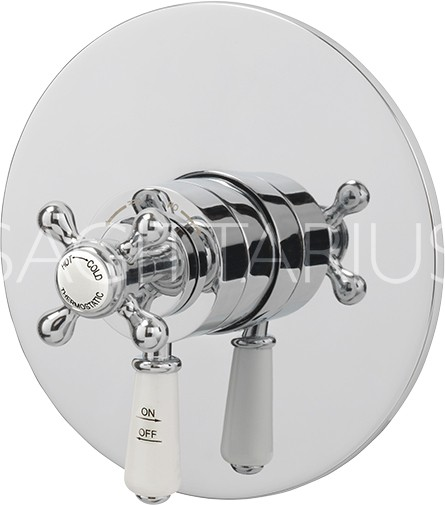 Additional image for Kensington Shower Valve With Arm & 130mm Head (Chrome).