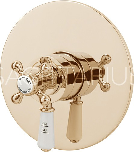 Additional image for Kensington Shower Valve With Arm & 300mm Head (Gold).