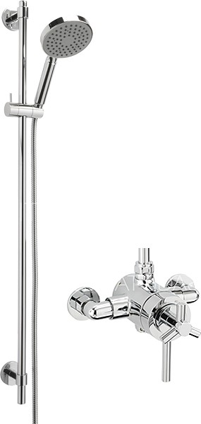 Additional image for Zone Exposed Shower Valve With Slide Rail Kit (Chrome).
