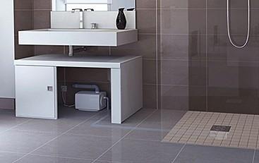 Sanifloor 3 Wetroom Shower Pump With Round Gully Saniflo