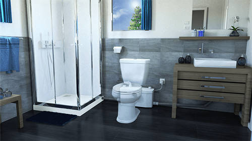 Additional image for Saniplus UP Macerator For A Bathroom (WC, Basin, Bath & Shower).