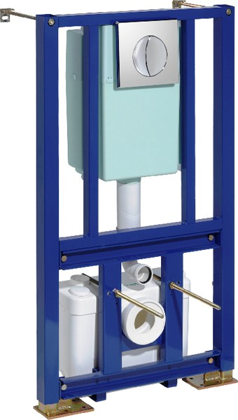 Additional image for Saniwall Macerator With Built In Frame System.