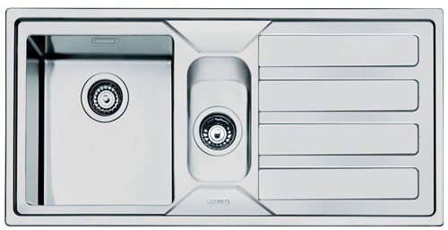 Additional image for Mira 1.5 Bowl Sink With Right Hand Drainer (Stainless Steel).