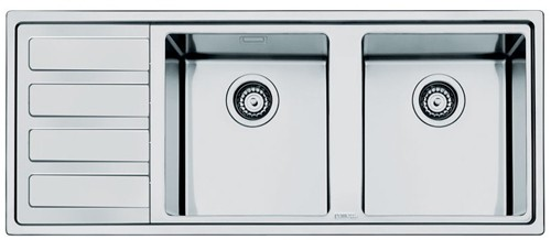Additional image for Mira 2.0 Double Bowl Sink With Left Hand Drainer (S Steel).