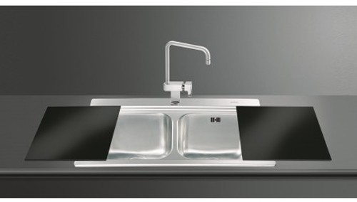 iris 2 0 bowl sink black glass chopping boards smeg sinks sm li92n rh taps4less com smeg kitchen sink waste smeg kitchen sinks australia