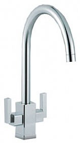 Additional image for Modena Kitchen Tap With Twin Lever Control (Chrome).