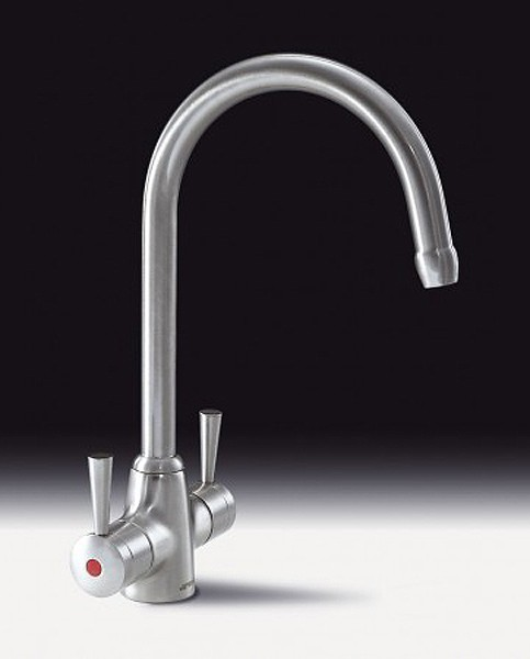 Additional image for Pisa Kitchen Tap With Twin Lever Controls (Chrome).