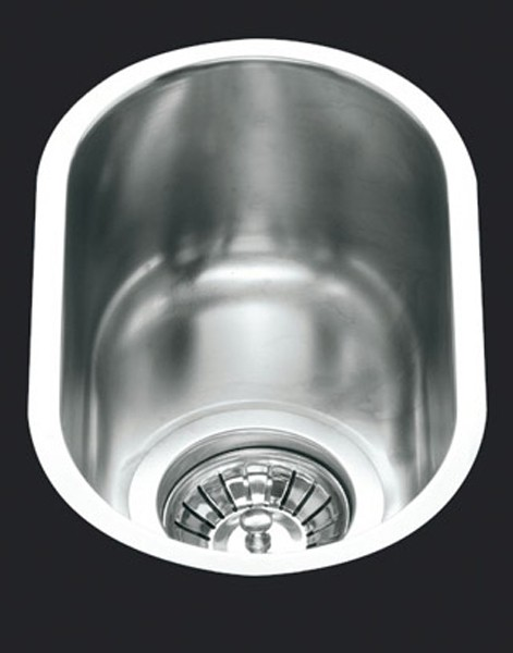 1.0 Bowl Oval Stainless Steel Undermount Kitchen Sink